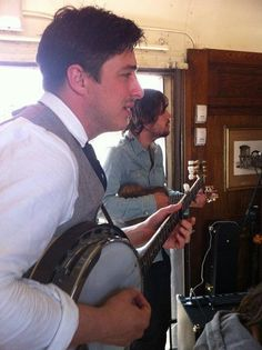 MARCUS MUMFORD. WHAT HAVE I TOLD YOU ABOUT PLAYING THE BANJO?!? I FORBID IT. THAT IS WINSTON'S JOB AND WINSTON'S JOB ALONE.