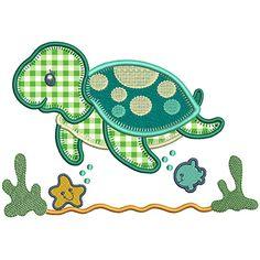 Baby Applique, Applique Quilt Patterns, Applique Templates, Machine Embroidery Applique, Machine Applique Designs, Turtle Quilt, Felt Animal Patterns, Baby Boy Quilts, Techniques Couture