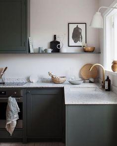 Home Interior Living Room .Home Interior Living Room Grey Kitchens, Home Kitchens, Kitchen Grey, Country Kitchen, Modern Kitchen Design, Interior Design Kitchen, Modern Design, Country Look, Decoration Inspiration