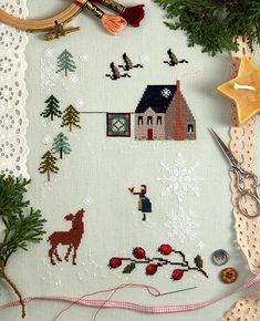 First Snow Cross Stitch Sampler Kit PRE-ORDER