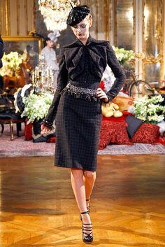 John Galliano Fall/Winter 2011 Ready-to-Wear Collection via Designer John Galliano; modeled by Michaela Kocianova [March 6, 2011 / Paris]