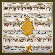 luxury-scarves.com 'Paris-London', Philippe Ledoux. 1967