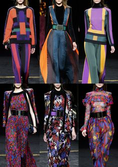 Patternbank bring the highlights of print and patternfrom Paris Fashion week today. Geometrics and colour blocks were a recurring theme as were rich ethni