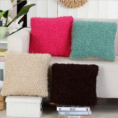 Pitaya Colorful Short plush 43x43cm/17.7x17.7'' Cotton Cushion Sofa Plaid Printed Throw Pillow Home Birthday Wedding Decorative