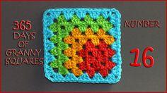 Hashtag #YARNutopia and #365DaysofGrannySquares in your photos!! View all Granny Squares: http://yarnutopia.com/365-days-of-granny-squares/ Teacher: Nadia Fu...