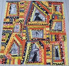 What a great quilt this would be for Halloween! Kelly shows us how to make this crazy quilt top