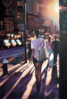 Sehr sinnliche und atmosphärische Gemälde auf Leinwand des französischen Künstlers Thomas Saliot. Vor allem die Weichheit der Motive und der Einsatz von Li