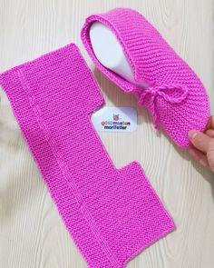 Knit Slippers Free Pattern, Crochet Baby Dress Pattern, Knit Crochet, Knitted Booties, Knitted Slippers, Shearling Slippers, Knitting Socks, Free Knitting, Lace Knitting Patterns