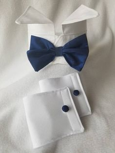 f2347ca2075a60 Dog Tuxedo Collar with Blue Bow Tie by K2Kreates Pet Clothes