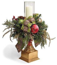 Christmas Joy Single Hurricane Christmas Decor traditional holiday decorations