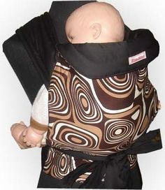 Brown Retro Mei Tai Baby Sling