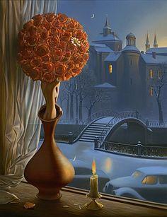 Daisy Games by Vladimir Kush~ My Favorite Kush piece