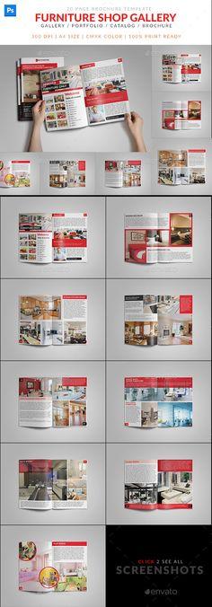 Furniture Shop Product Catalog Brochure Template #design #printdesign Download: http://graphicriver.net/item/furniture-shop-product-catalog-brochure/12112138?ref=ksioks