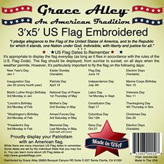 American Flag: 100% American Made - Embroidered Stars and Sewn Stripes - 3 x 5…
