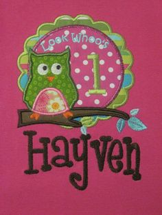Love this sweet Owl for themed birthday girls ;)