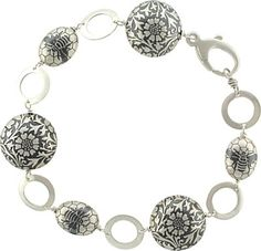 Silver Bumble Bee Beads create a buzz on this summery bracelet design FREE at Nina Designs. Shop Now!