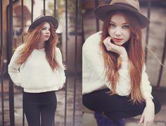 Fillipa Smeds Swedish fashion blogger - red hair girl