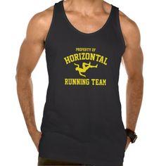 Property Of Horizontal Running Team Tank Tank Tops