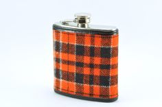 Plaid Wrapped FLASK  6oz  Pendelton Wool by KeelanRogue on Etsy