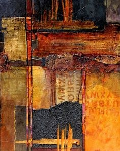 "CAROL NELSON FINE ART BLOG: Mixed media abstract painting, ""Headlines"" by Colorado Mixed Media Abstract Artist Carol Nelson"
