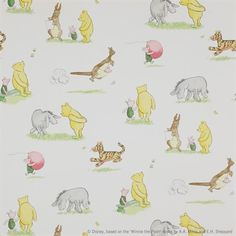 Jane Churchill wallpaper Winnie the Pooh and Friends - More colours!