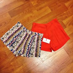 shorts weather is upon us #showalittleleg #shorts #prints #tribal #brightcolors