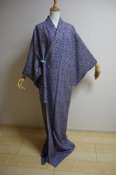 Kimono Dress Japan Japanese costume Vintage Japanese Komon KIMONO KDJM-A0188