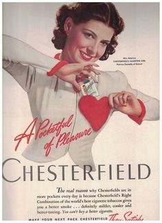 Patricia Donnelly Miss America 1939 in 1940 Chesterfield Cigarettes Ad #Chesterfield