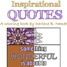 Inspirational Quote Coloring Page Custom Printable