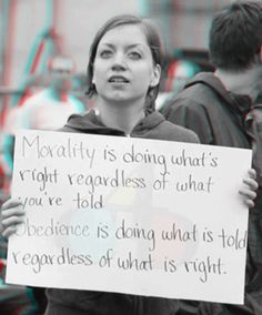 Morality vs Obedience 3D anaglyph