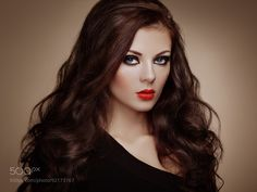 Portrait of beautiful sensual woman with elegant hairstyle by heckmannoleg