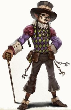 Voodoo Halfling by Eric Belisle gnome bard rogue noble townsfolk