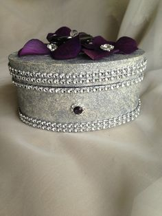 wedding ring box  proposal box ring bearer  by TheCrystalFlower, $65.00