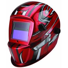 The auto darkening lens on this solar powered welding helmet darkens in 1/25,000 second as soon as you begin welding! Featuring a custom fit made possible by a ratcheting headband and padded interior, you can weld in comfort. The solar powered welding helmet gives you a full view of your welding area as well as complete UV/IR protection. http://www.bonanza.com/listings/Auto-Darkening-Welding-Helmet-With-Racing-Stripe-Design/192499637
