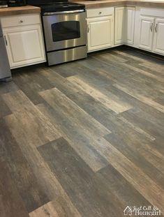 LifeProof Luxury Vinyl Plank Flooring in the Kitchen - Just Call Me Homegirl Allure Vinyl Plank Flooring, Allure Flooring, Vinyl Flooring Kitchen, Luxury Vinyl Flooring, Basement Flooring, Luxury Vinyl Plank, Diy Flooring, Flooring Ideas, Laminate Flooring