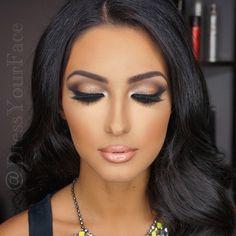 Make up idea Bride Makeup, Wedding Hair And Makeup, Glam Makeup, Skin Makeup, Beauty Make-up, Beauty Hacks, Looks Dark, Brunette Makeup, Make Up Inspiration