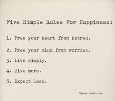 five simple rules.
