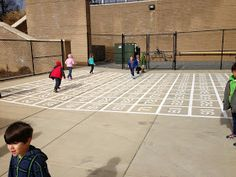 Ah! Our first graders are sooo excited about our new math zone! Using grant funds, we found a local paving company to pave number bonds, a ...