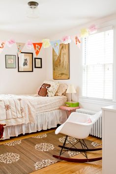 A collection of interior designs featuring 15 Fantastic Shabby Chic Kids' Room Interiors Your Kids Will Adore. Girls Room Design, Nursery Design, White Ruffle Bedding, Girls Bedroom, Bedroom Decor, Bedroom Apartment, Room Interior, Interior Design, Interior Decorating