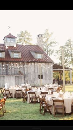 Beautiful barn wedding reception