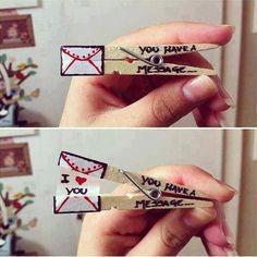 "A wonderful idea to say ""I LOVE YOU"" Repin by Inweddingdress.com"