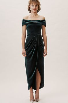 84bb8263864 Edison Velvet Dress. Velvet Dress FormalGreen ...