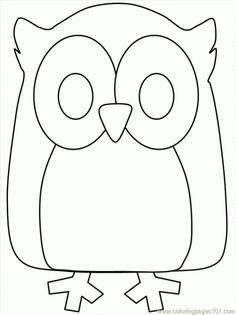 Coloriage Hibou à colorier - Dessin à imprimer