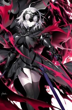 Joan Alter - Joan of Arc (Fate/Apocrypha) - Image - Zerochan Anime Image Board Animes Yandere, Yandere Manga, Fate Jeanne Alter, Fan Art Anime, Fate Servants, Fate Anime Series, Joan Of Arc, Best Waifu, Fate Zero