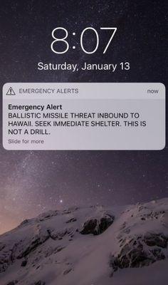 """Officials say the emergency alert warning Hawaiians of a """"ballistic missile threat"""" was a false alarm.  #Hawaii #missleattackhawaii #falsealarm"""