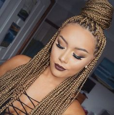 Honey box braids                                                                                                                                                                                 Más                                                                                                                                                                                 Más