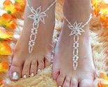 Barefoot Sandals Foot Jewelry Pearl Beach Weddings Destination Weddings Bridal Jewelry Floral I want it now :( so pretty! Crochet Barefoot Sandals, Beaded Sandals, Beaded Anklets, Pearl Sandals, Ankle Jewelry, Ankle Bracelets, Body Jewelry, Beach Jewelry, Cute Jewelry