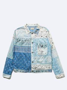 Otaku, Vintage Bandana, Denim Patchwork, Lightweight Jacket, Diy Fashion, Hoodies, Fabric, Jackets, Quilted Coats