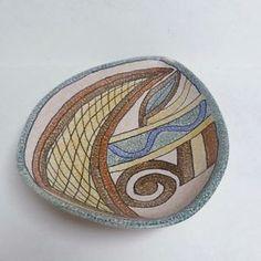 Retro-U-Keramik-Germany-Abstract-Design-Free-Form-Dish