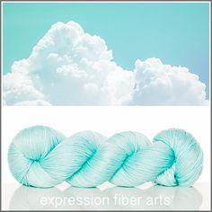 Puffy Clouds Expression Fiber Arts Luster Merino Tencel Sport yarn
